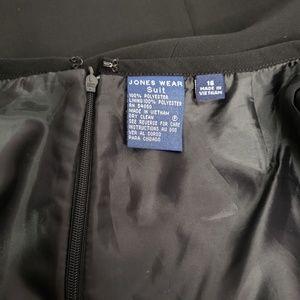 Jones Wear Skirts - Jones Wear Solid Black Lined Midi Tailored Skirt